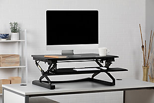 OFM 5100 Height Adjustable Sit to Stand Desktop Riser, , rollover