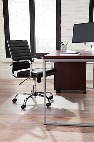 OFM Essentials Collection ESS-6095 Soft Ribbed Bonded Leather Executive Conference Chair, , rollover