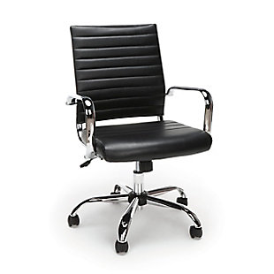 OFM Essentials Collection ESS-6095 Soft Ribbed Bonded Leather Executive Conference Chair, , large