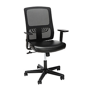 OFM Essentials Collection Mid Back Mesh Back with Leather Seat Office Chair, , large