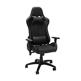 OFM Essentials Collection Racing Style Gaming Chair, Black, large