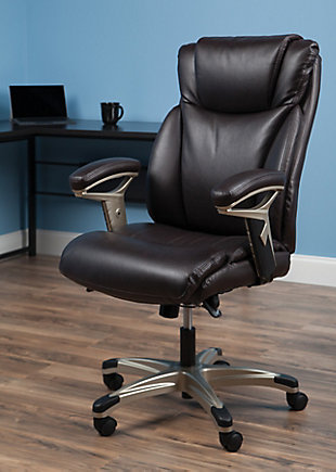 OFM Essentials Series Ergonomic Executive Bonded Leather Office Chair, , rollover