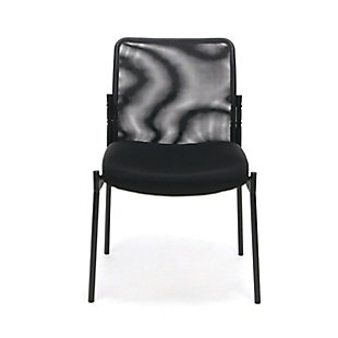 OFM Essentials Collection ESS-8000 Mesh Back Upholstered Armless Side Chair, , rollover