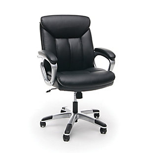 OFM Essentials Collection ESS-6020 Executive Office Chair, Black/Silver, large