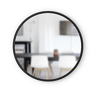 "Umbra Hub Black Rubber Framed 24"" Mirror, , large"