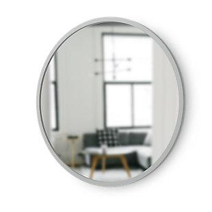 """Umbra Hub Gray Rubber Framed 24"""" Mirror, , large"""