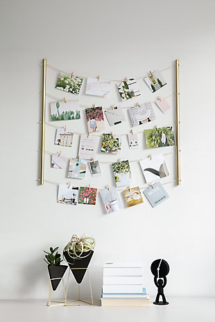 Umbra Hangit Brass Hanging Photo Display, , rollover