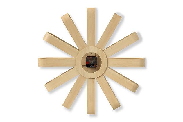 Umbra Ribbonwood Large Moden Wall Clock, , large