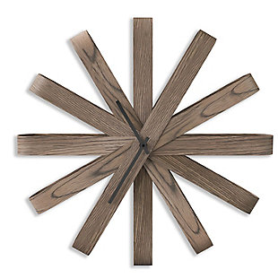 Umbra Ribbonwood Large Moden Wall Clock, , large