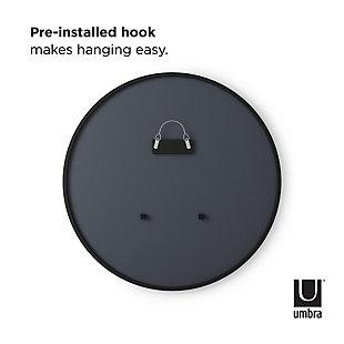 "Umbra Hub Black Rubber Framed 37"" Mirror, , large"