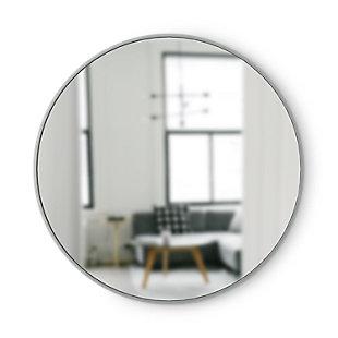 """Umbra Hub Gray Rubber Framed 37"""" Mirror, , large"""