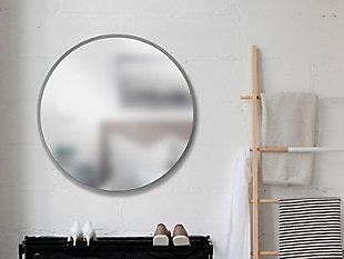 """Umbra Hub Gray Rubber Framed 37"""" Mirror, , rollover"""