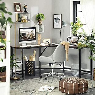 Vasgale L-Shaped Corner Computer Desk, , rollover