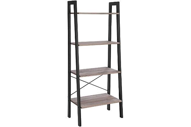Vasgale Alinru 4-Tier Ladder Bookshelf, , large