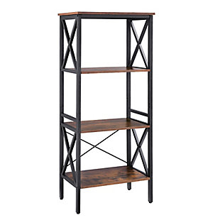 Vasgale 3-Tier Industrial Corner Shelf Rack, , large