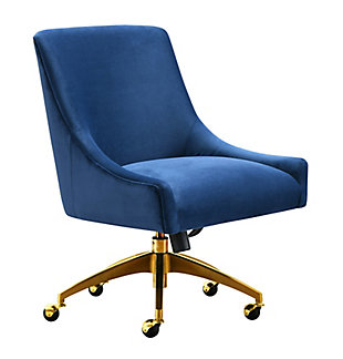 TOV Furniture Beatrix Navy Office Swivel Chair, , large