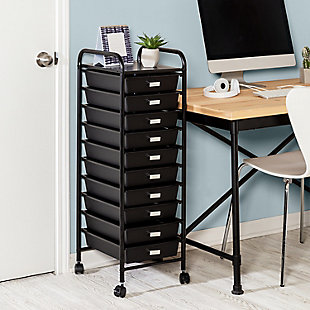 Honey-Can-Do 10-Drawer Rolling Storage Cart, , rollover