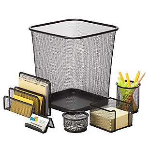 6-Piece Mesh Desk Set, , rollover