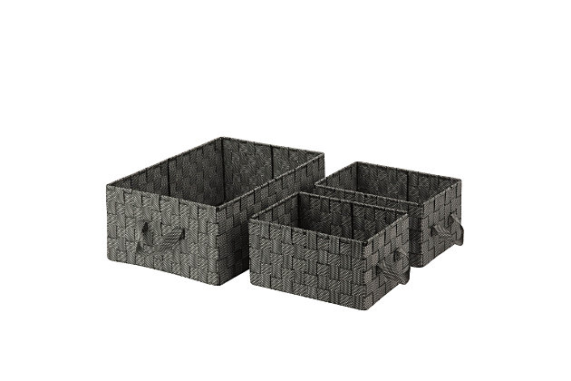 Honey-Can-Do 3-Piece Nesting Baskets, , large