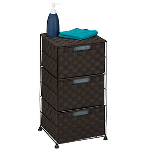Honey-Can-Do Double Woven 3-Drawer Storage Organizer Chest, , rollover