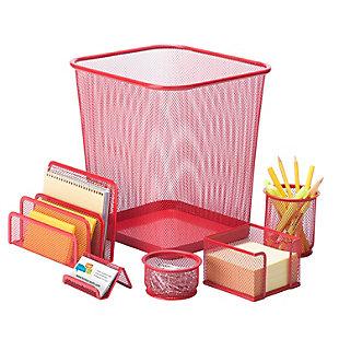 6-Piece Mesh Desk Set, , rollover