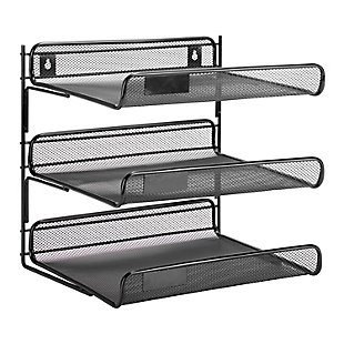 3 Tier Mesh Desk Organizer, , large