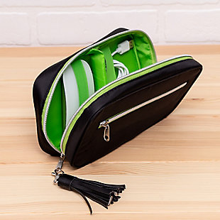 Compact 5-Pocket Wallet-Style Tech & Phone Accessories Organizer, , rollover