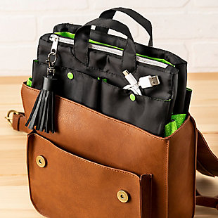 Compact 11-Pocket Tech & Phone Accessories Organizer, , rollover