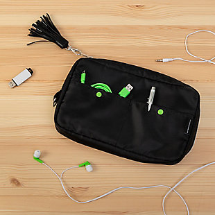 Compact 6-Pocket Tech & Phone Accessories Organizer, , rollover