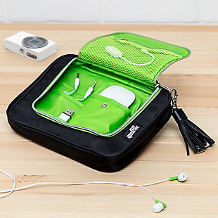 Compact 9-Pocket Tech & Phone Accessories Organizer, , rollover