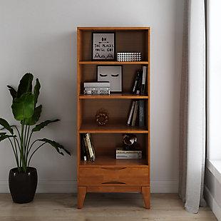 Harper Mid Century Modern Bookcase with Storage, , rollover