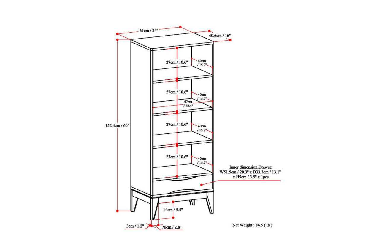 Harper Mid Century Modern Bookcase With Storage Ashley Furniture Homestore