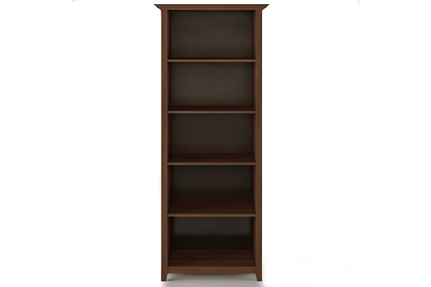 """Amherst  Solid Wood 70"""" Transitional 5 Shelf Bookcase, , large"""