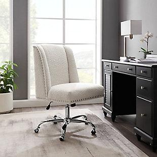 Draper Upholstered Swivel Office Chair, , rollover