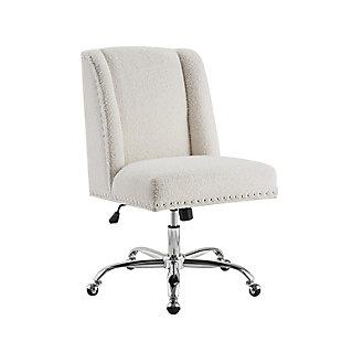 Draper Upholstered Swivel Office Chair, , large