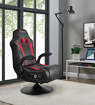 X Rocker Vibe 2.1 Bluetooth Pedestal Gaming Chair, , rollover