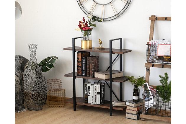 Whittier 3-Shelf Etagere Bookcase, , large