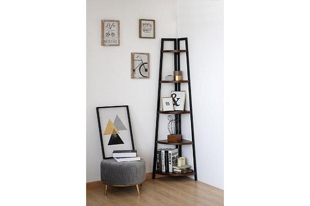 Nicolai Corner Bookcase, , large