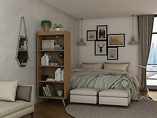 Hampton 4-Tier Bookcase, , rollover