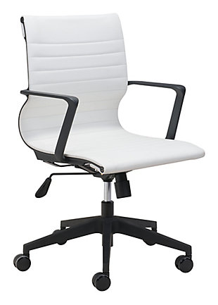 Stacy White Office Chair, , rollover
