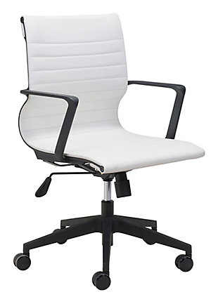 Stacy White Office Chair, , large