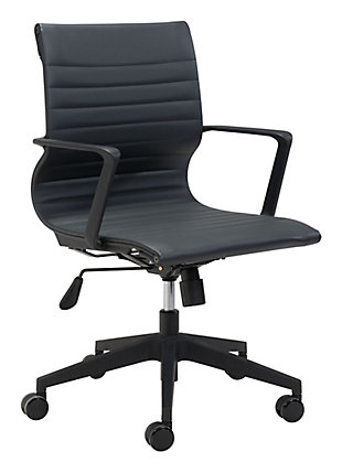 Stacy Black Office Chair, , large