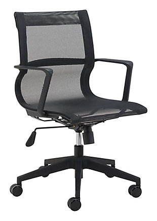 Stacy Black Mesh Office Chair, , large