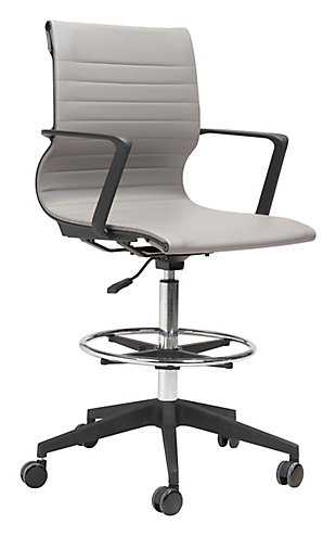 Stacy Gray Drafter Office Chair, , large