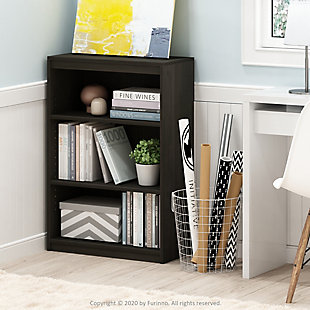 Furinno Gruen 3-Tier Bookcase with Adjustable Shelves, , rollover