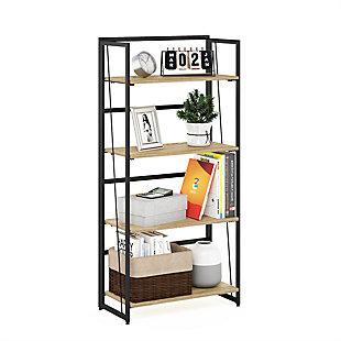 Furinno Riau No Tool Metal Frame Bookcase, , rollover