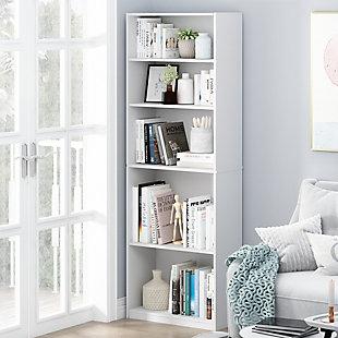 Furinno JAYA Simple Home 5-Shelf Bookcase, , rollover