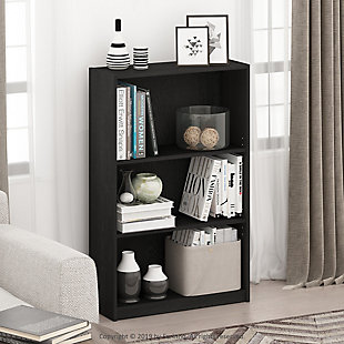 Furinno JAYA Simple Home 3-Tier Adjustable Shelf Bookcase, , rollover