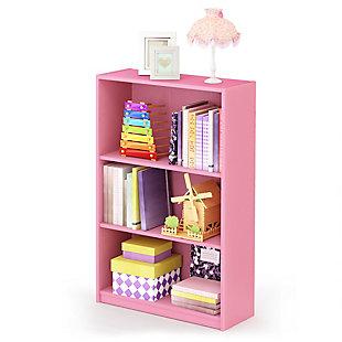 Furinno JAYA Simple Home 3-Tier Adjustable Shelf Bookcase, , rollover