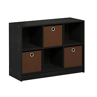 Furinno Basic 3x2 Bookcase Storage with Bins, , large